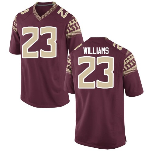 Youth Nike Sidney Williams Florida State Seminoles Game Garnet Football College Jersey