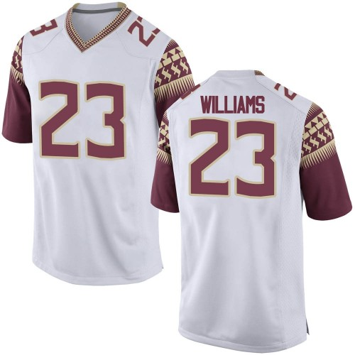 Youth Nike Sidney Williams Florida State Seminoles Game White Football College Jersey