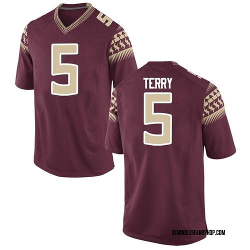 Youth Nike Tamorrion Terry Florida State Seminoles Game Custom Garnet Football College Jersey