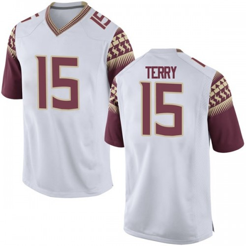 Youth Nike Tamorrion Terry Florida State Seminoles Replica White Football College Jersey
