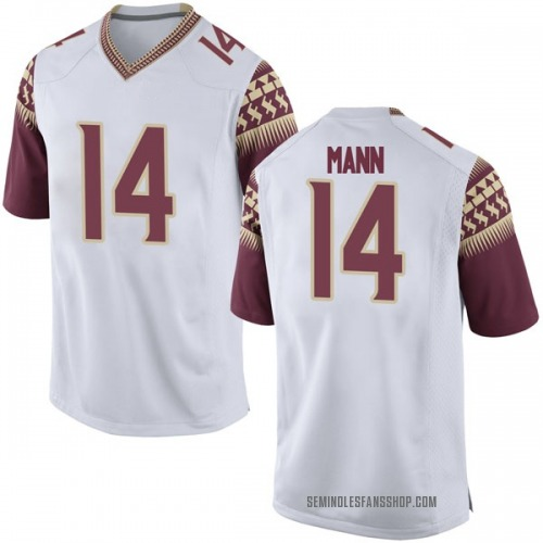 Youth Nike Terance Mann Florida State Seminoles Game White Football College Jersey