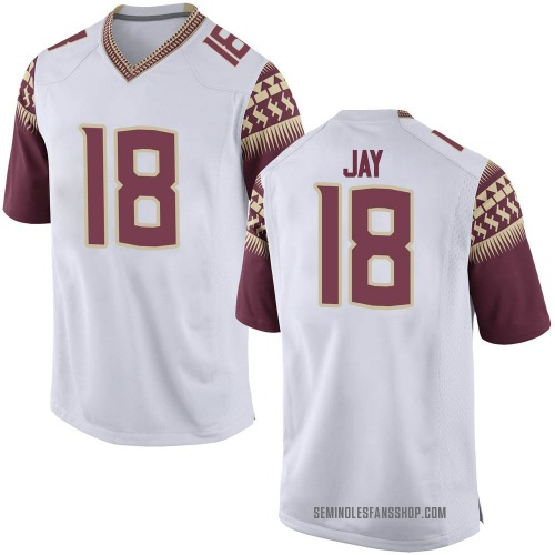 Youth Nike Travis Jay Florida State Seminoles Game White Football College Jersey