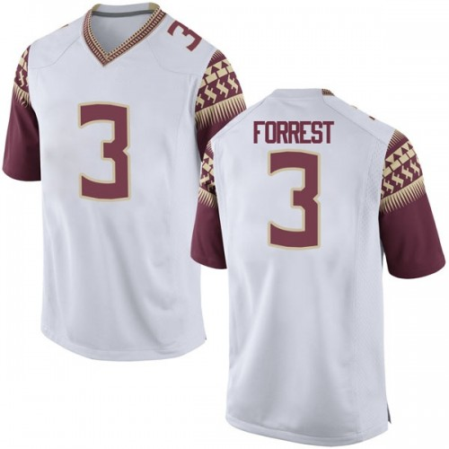 Youth Nike Trent Forrest Florida State Seminoles Game White Football College Jersey