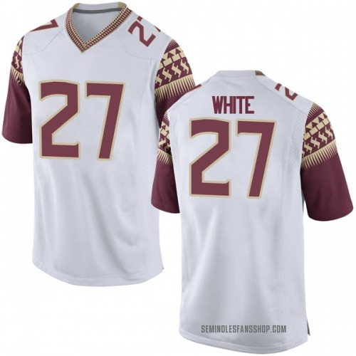 Youth Nike Zaquandre White Florida State Seminoles Game White Football College Jersey