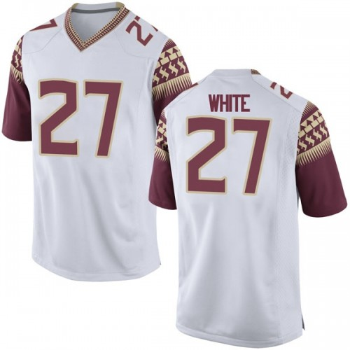 Youth Nike Zaquandre White Florida State Seminoles Replica White Football College Jersey