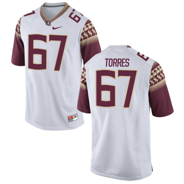 Women's Nike Adam Torres Florida State Seminoles Authentic White Football Jersey