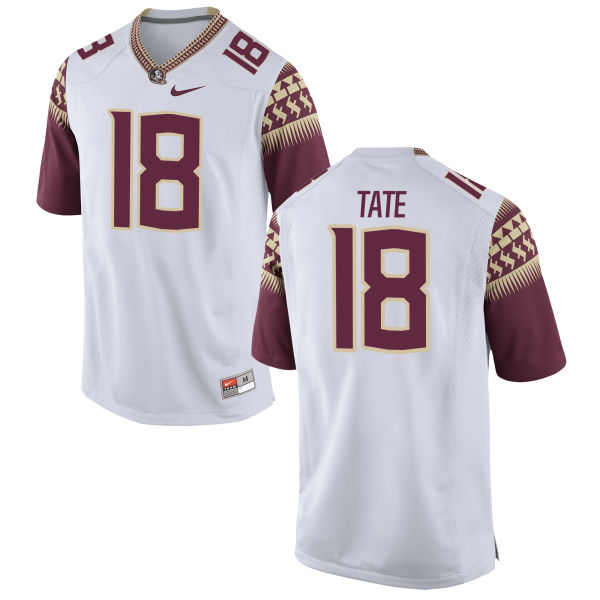 Men's Nike Auden Tate Florida State Seminoles Game White Football Jersey