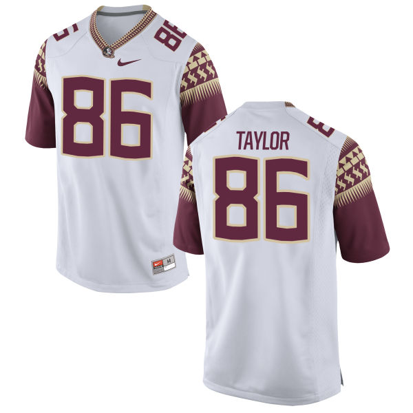 Men's Nike Darvin Taylor II Florida State Seminoles Authentic White Football Jersey