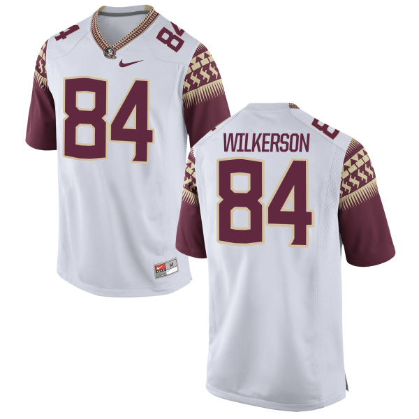Men's Nike Jalen Wilkerson Florida State Seminoles Authentic White Football Jersey