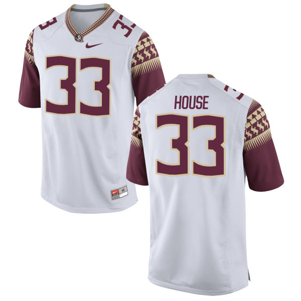 Men's Nike Kameron House Florida State Seminoles Game White Football Jersey