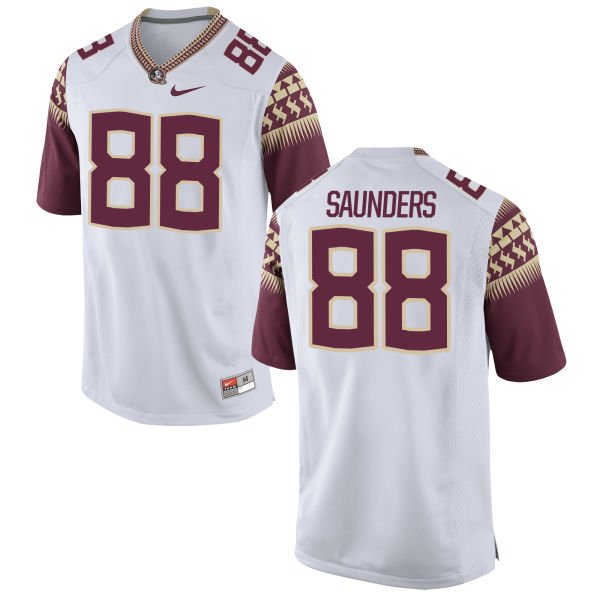 Men's Nike Mavin Saunders Florida State Seminoles Limited White Football Jersey