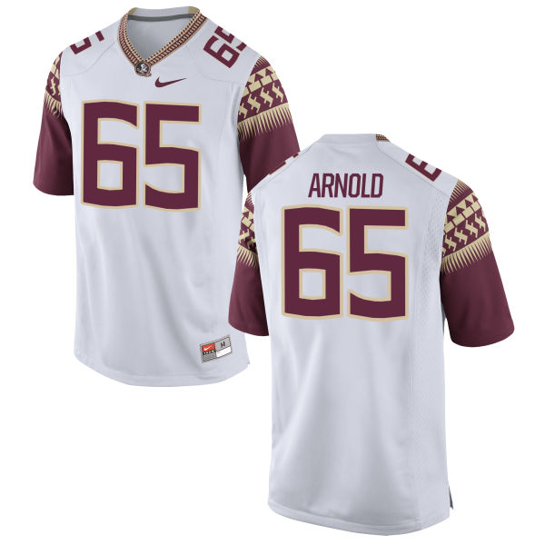 Youth Nike Mike Arnold Florida State Seminoles Game White Football Jersey