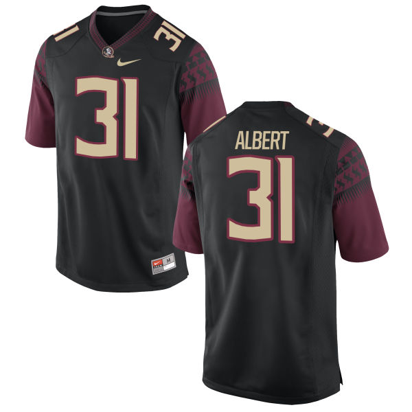 Men's Nike Omari Albert Florida State Seminoles Game Black Football Jersey