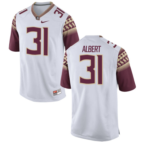 Men's Nike Omari Albert Florida State Seminoles Game White Football Jersey