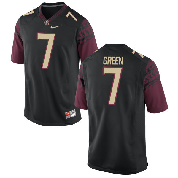 Youth Nike Ryan Green Florida State Seminoles Authentic Green Football Jersey Black