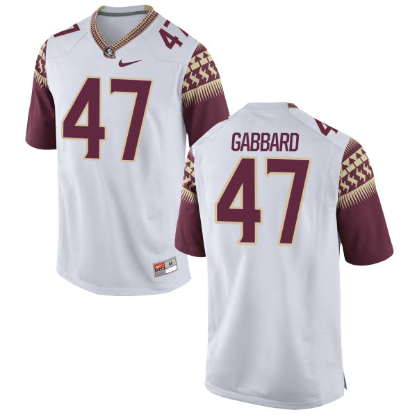 Men's Nike Stephen Gabbard Florida State Seminoles Game White Football Jersey