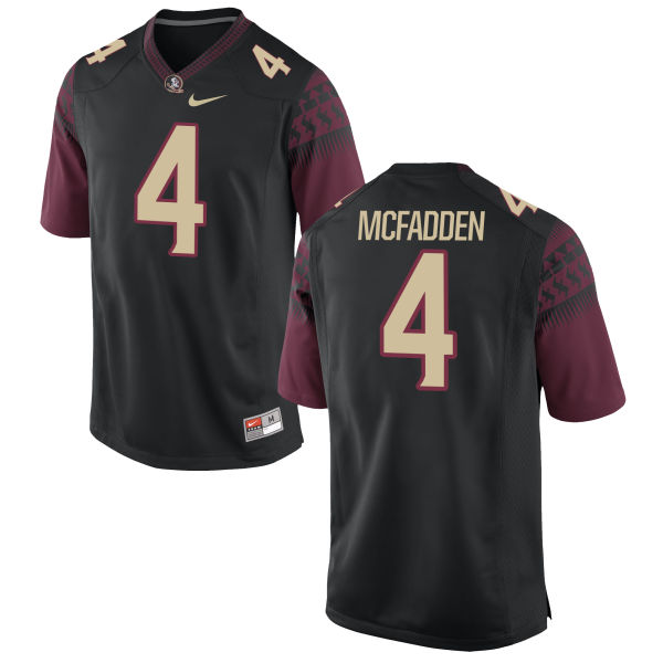 Men's Nike Tarvarus McFadden Florida State Seminoles Replica Black Football Jersey