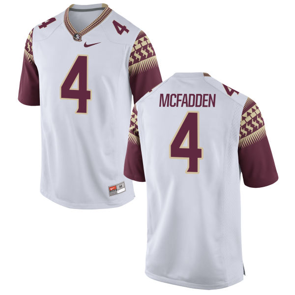 Men's Nike Tarvarus McFadden Florida State Seminoles Replica White Football Jersey