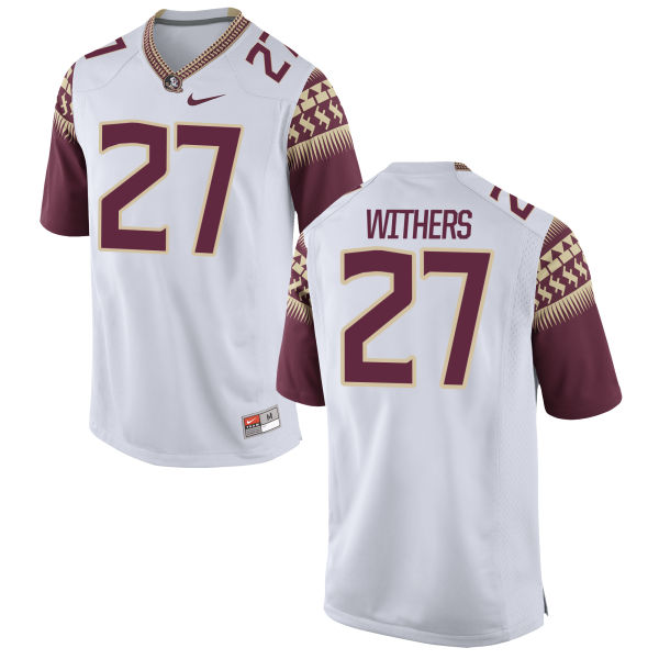 Men's Nike Tyriq Withers Florida State Seminoles Game White Football Jersey