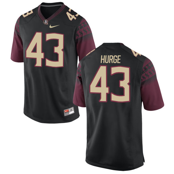 Youth Nike Xavier Hurge Florida State Seminoles Game Black Football Jersey
